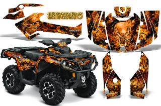 Can Am Outlander 800 1000 R XT 2012 Graphics Kit Creatorx Decals Inferno