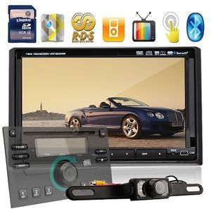 "Dual Zone GPS Navi HD 7""LCD Bluetooth Radio TV Car Stereo DVD Player Cam Panel"