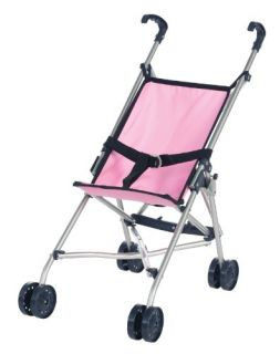 New Castle Toys Lissi Baby Doll Umbrella Stroller Pink