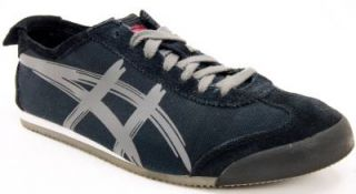 Asics Onitsuka Tiger Mexico 66 Black Grey Canvas Trainers Sneakers Shoes Mens 10