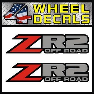 ZR2 Off Road Vinyl Decals Stickers Labels Chevy S10 Sonoma ZR 2 Blazer 4x4