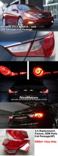 Hyundai 2010 2011 2012 Sonata IX 45 LED Tail Light Lamp Full Genuine Parts