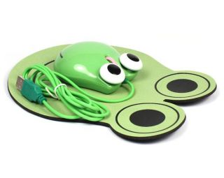 New Mini Cute 3D Frog Shape USB Wired Optical Mouse for Laptop Notebook PC