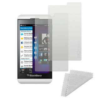 2X Pack T Mobile Anti Fingerprint Screen Protector Kit for Blackberry Z10 Shield