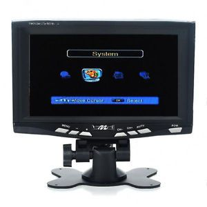 "New Black DVB T(MPEG4) 7"" TFT LCD Monitor Digital TV Receiver"