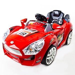 Red Hot Racer Kids Battery Power Ride on Car  RC Remote Sport Wheels