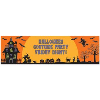 1 65m Haunted Halloween Spooky House Party Personalised Banner Decoration