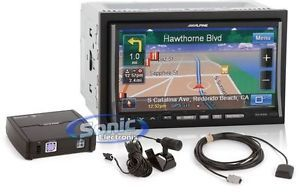 Alpine INA W900 in Dash Double DIN DVD CD  Receiver w GPS Nav Bluetooth