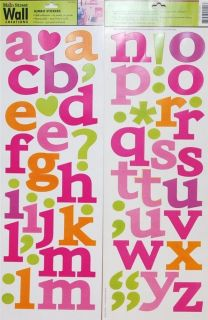 New Main Street Wall Creations Alphabet Letters Symbols Self Adhesive Wall Art