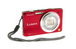 Panasonic Lumix DMC SZ1 Digital Camera Red Open Box
