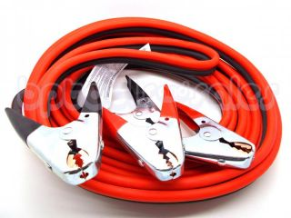 25ft Heavy Duty 2 Gauge Booster Jumper Cables 600 Amp Jaw Clamp Car Auto Trucks