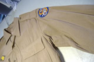 Vintage WWII Army Military US Officers Lt Uniform 5th Air Force Shirt Pants 2 4
