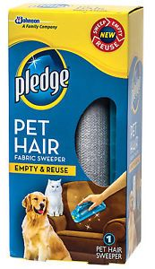 Pledge Pet Hair Fabric Sweeper Dog Cat Lint Roller Remover Empty Reuse New
