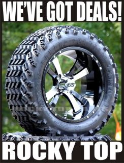 "New 14"" Twister Golf Cart Wheels and 23 10 14 Sahara Classic All Terrain Tires"