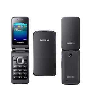 New Samsung C3520 Black Unlocked Quadband GSM Flip Cell Phone