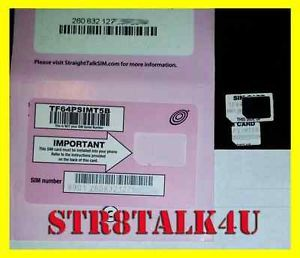Straight Talk Micro Sim Card for T Mobile or Unlocked GSM Phones