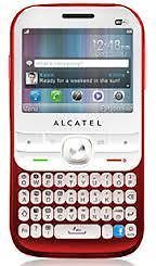 Alcatel OT838G Red Unlocked GSM Cellular Phone