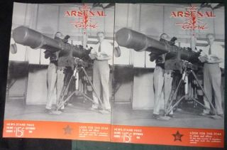 15 WW2 War Worker Magazines Rock Island Arsenal Record Ordnance Workers