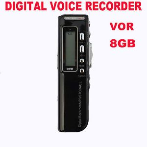 New 8GB Voice Activated USB Digital Voice Recorder Dictaphone  Player Black
