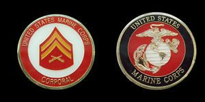 US Marine Corps Corporal Challenge Coin Military Collectible Coins