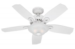 "Hunter Auberville 44"" Ceiling Fan Model 28706 in White with Reversible White"
