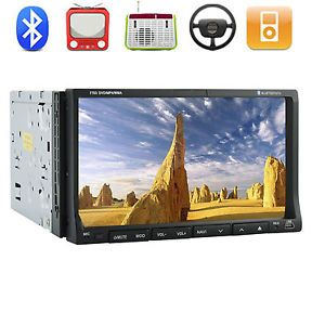"7"" Double DIN DVD Audio Video Car Stereo CD DVD Player Touchscreen Radio iPod TV"