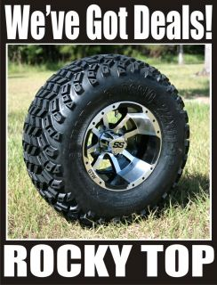10x7 Storm Trooper Golf Cart Wheel and All Terrain Sahara Classic Tires