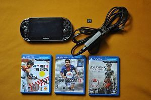 Sony PS Vita Wi Fi 3G Bundle 4GB Memory Card 3 Games Great Condition