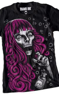 Akumu Ink Tattoo Horror Emo Goth Punk Pink Hair Poison T Shirt
