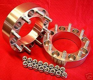 "2"" Wheels Spacers Adapters 8 Lug Chevy Duramax 8x6 5"
