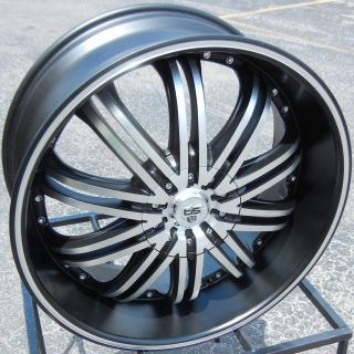 "22"" Black Tis 532 Wheels Rims Dodge RAM 1500 Dakota Durango 4x4 Chrysler Aspen"