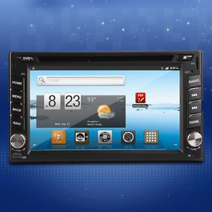 "Hot Sale Android 6 2"" 2Din 3G WiFi Car GPS DVD Player Receiver Bluetooth Radio"