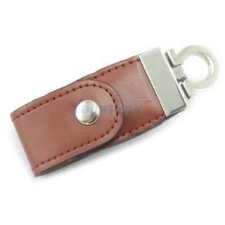 Leather 8GB USB 2 0 Flash Memory Pen Drive U Disk Brown