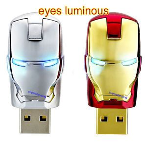 Iron Man Model 4 32GB USB 2 0 Enough Memory Stick Flash Pen Drive
