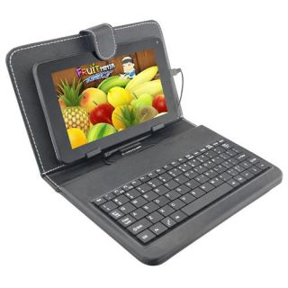 "Dual Core 7"" Capacitive Android 4 2 Tablet with Keyboard Case Bundle"
