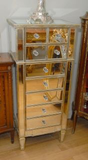 Tall Art Deco Mirrored Chest Drawers Tall Boy Chests Furniture