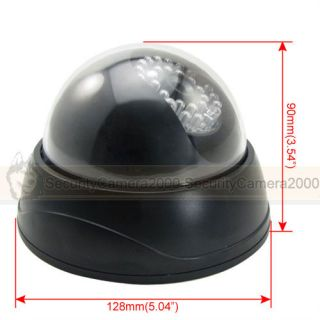 Indoor Model Dome Camera Battery Powered Red LED Warning Light ABS Plastic