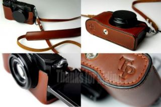 New Genuine Real Leather Bag Case Cover for Samsung EX1 EX 1 Camera
