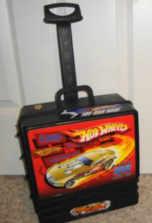Sale Hot Wheels 100 Car Carry Case Wheeled Rolling Storage Black Red Racing