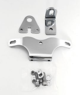 Chrome Top Engine Motor Mount Bracket Kit Fits Harley Evolution 1984 Up