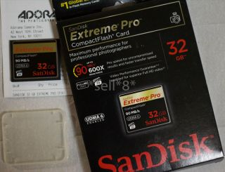 32GB SanDisk Extreme Pro Compact Flash CF Canon Nikon Camera Good Condition
