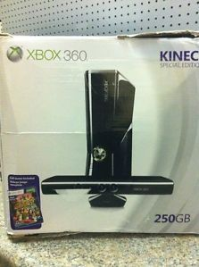Xbox 360 250GB System Kinect Bundle Special Edition Console Adventures Game