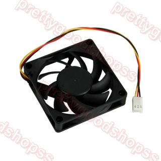 PC Computer CPU 3 Pin Fan Cooler Cooling Heatsink Exhaust Blower 70mm