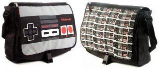 Super Mario Bros Nintendo Controller School Reversible Flap Messenger Bag Purse