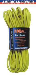 100 ft Heavy Duty Extension Cord 12GAUGE