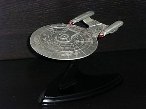 Star Trek TNG USS Enterprise NCC 1701 D Franklin Mint Pewter Nice