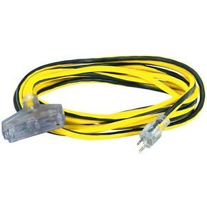 25 ft 12 Gauge Triple Tap Heavy Duty Extension Cord with Indicator Light New