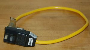 Woods 2877 Yellow Jacket 2 Foot Extension Cord with Right Angle GFCI and Lighted