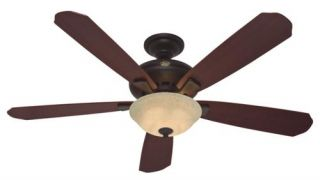 "Hunter Grant Park 60"" Ceiling Fan Model 21711 in New Bronze with Reversible B"