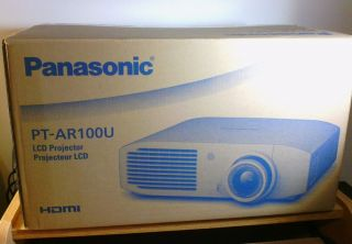 New Panasonic PT AR100U PT AR100 1080p LCD Home Theater Projector HDMI